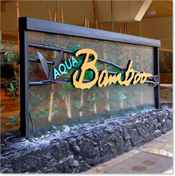 Ground Signs - Aqua Bamboo