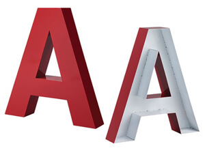 Fabricated Metal Letters