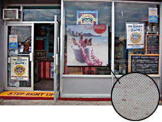 Perforated Window Vinyl