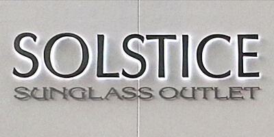 Channel Letters - Solstice Sunglass