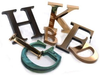 Dimensional letter signs