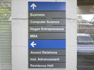 Architectural & wayfinding signs