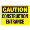 Caution Construction Entrance