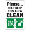 Please Keep Area Clean