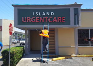 Island Urgent Care Channel Letters Installation