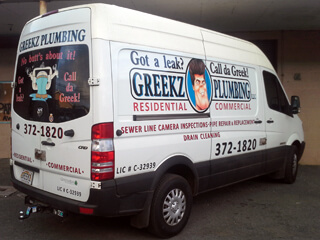Greekz Plumbing Van Graphics