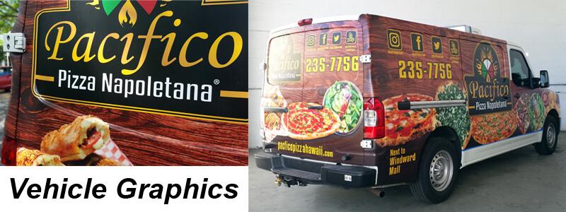Pacifico Pizza Van Wrap