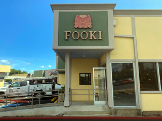 Fooki Face Lit Channel Letters Business Sign