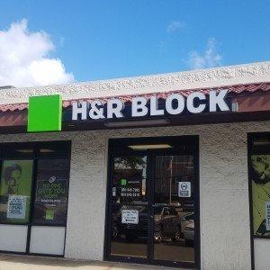 H&R Block Face Lit Channel Letters Sign