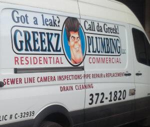Greekz Plumbing Vehicle Graphics