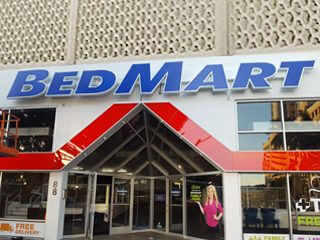 Bed Mart Face Lit Channel Letters Business Sign