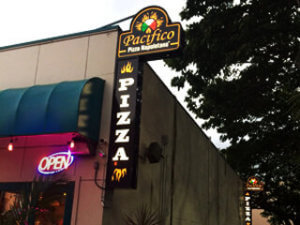 Pacifico Pizza Lightbox Business Sign